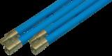 Flexibele veegstok met schroefdraad extra professioneel blauw 120cm NIEUW_