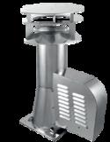 Rookgasventilator Isotube met vierkante basis en kap 200mm _