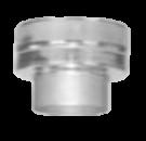 Onder-aansluitstuk dubbel-enkelwandig 180/245 mm Hark Premium_