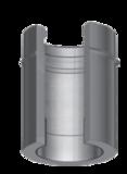 Dubbelwandig L=1000 met nisbus 250/315 mm Hark Premium_