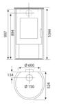 Wamsler Rona staal grijs 8 kW_