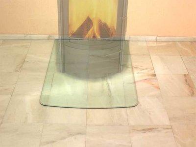 Glas vloerplaat 770 x 1030 x 8 mm met facet