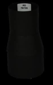 Verloopstuk Isotube 79 - 100 Zwart