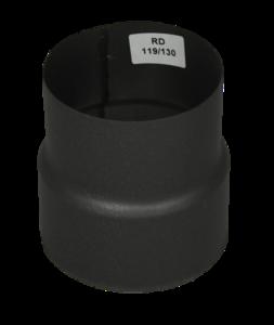 Verloopstuk Isotube 119 - 130 Grijs-Antraciet