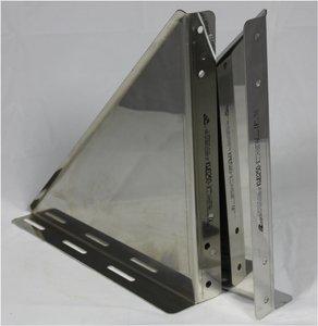Platina Dubbelwandig /Ø200mm RVS Beugels voor Stoelconstructie