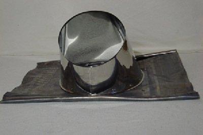 Dakdoorvoer RVS met loodflap 30-45 graden tbv 150mm dw rookkanaal TL