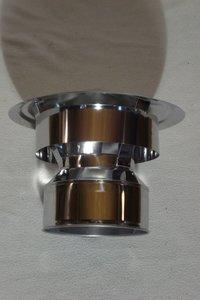 Rookkanaal 150/200 DW Trekkap rvs valwind T-600 Diamond Twist Lock