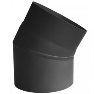 Rookkanaal EW Ø150mm 2mm Bocht 30° graden - zonder luik (zwart)