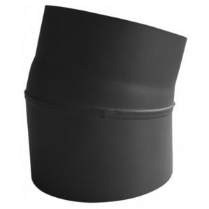 Rookkanaal EW Ø150mm 2mm Bocht 15° graden - zonder luik (zwart)