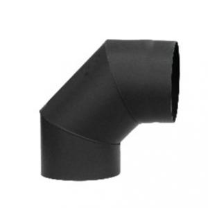 Rookkanaal EW Ø150mm 2mm Bocht 90° graden (zwart)