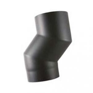 Rookkanaal EW Ø150mm 2mm Element om kachel naar voren te halen (12cm) (zwart)