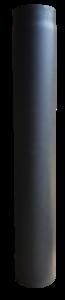Rookkanaal EW Ø150mm 2mm 100cm - met verjonging (zwart/antraciet)