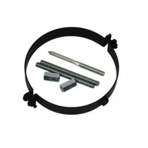 Rookkanaal EW Ø150mm 2mm muurbeugel gelast kleur zwart
