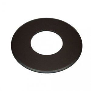 Enkelwandig 150mm Rozet groot 9cm (kleur zwart)