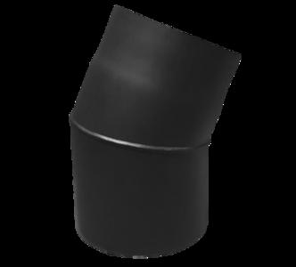 Rookkanaal EW Ø150mm 2mm Bocht 22° graden (zwart)