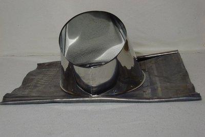 Dakdoorvoer 0 graden met Loodflap tbv DW Rookkanaal 150/200mm Techno
