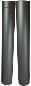 Enkelwandig kachelpijp 100mm 0.6mm Paspijp 105-190cm met verjonging (grijs/antraciet) rookkanaal