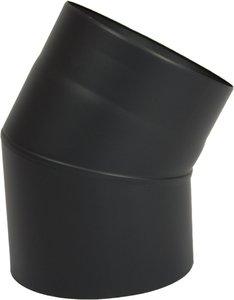 Enkelwandig kachelpijp 150mm 0.6mm bocht 30 graden (kleur grijs/antraciet)