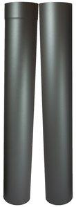 Enkelwandig kachelpijp 150mm paspijp 105-195cm zonder verjonging (kleur grijs/antraciet)