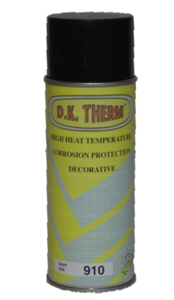 D.K Therm Hitte bestendige spuitbus verf kleur Zwart kleurcode 910