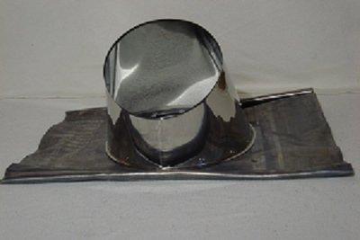 Dakdoorvoer RVS met loodslap 30-45° graden tbv Ø200/250mm DW rookkanaal TL