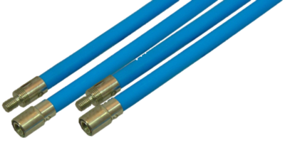 Flexibele veegstok met schroefdraad extra professioneel blauw 120cm NIEUW