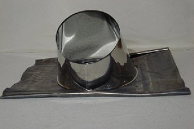 Dakdoorvoer RVS met loodslap 45-60 graden tbv 200mm DW rookkanaal TL