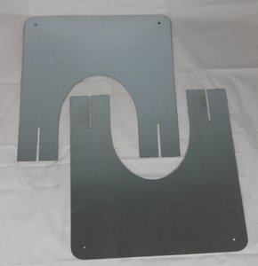 Brandseparatieplaat hellend dak tbv DW 125/175mm