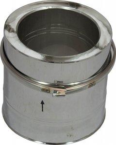 Rookkanaal dubbelwandig Holetherm 150mm L=20cm