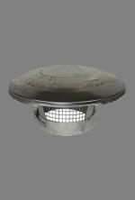 Holetherm dubbelwandig rookkanaal 200mm Regenkap met gaas