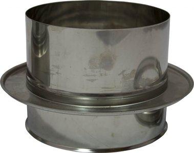 Holetherm dubbelwandig rookkanaal 200mm Onder-aansluitstuk