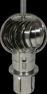 Turbo-Q-vent Draaikap insteekpijp 150mm