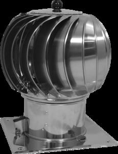 Turbo-Q-vent met bodemplaat 200mm