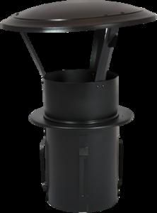Gegalvaniseerde Zelfklemmende Regenkap met opklapbaar deksel 110mm Zwart
