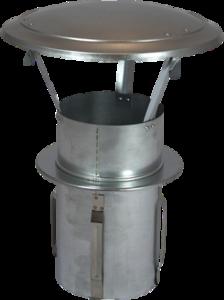 Gegalvaniseerde Zelfklemmende Regenkap met opklapbaar deksel 120mm