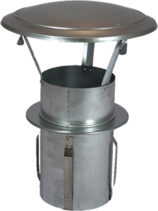 Gegalvaniseerde Zelfklemmende Regenkap met opklapbaar deksel 130mm