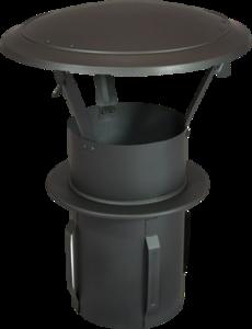 Gegalvaniseerde Zelfklemmende Regenkap met opklapbaar deksel 130mm Grijs