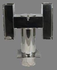 H-type trekkap 150mm met Bodemplaat