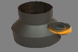 Verloopstuk Isotube 135-180 Met Plakkoord Grijs-Antraciet