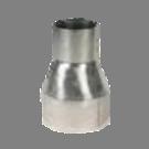 Verloop rvs 109-200mm