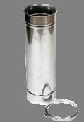 Holetherm enkelwandig rookkanaal 150mm L-50cm