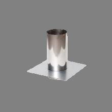 Holetherm enkelwandig rookkanaal 150mm Vloerplaat