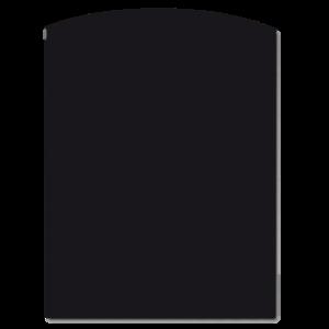 Vloerplaat Staal toog / ondiep halfrond 800 x 1000 x 2mm Zwart