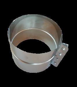 Rookkanaal dubbelwandig Holetherm 150mm Extra Brede Klemband 16cm