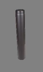 Rookkanaal EW Ø250mm - 2mm L=100cm met verjonging (kleur zwart)