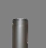 Rookkanaal EW Ø250mm - 2mm 25cm pijp (kleur grijs)