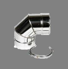 Holetherm enkelwandig rookkanaal 200mm Bocht 90 Graden