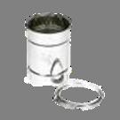 Holetherm enkelwandig rookkanaal 175mm L-25cm