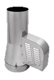 Rookgasventilator Isotube met inlaatpijp 150mm