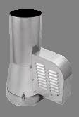 Rookgasventilator Isotube met inlaatpijp 200mm